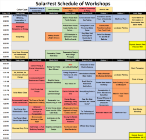 SolarFest Speakers Schedule